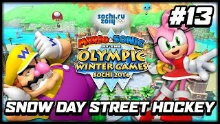Mario & Sonic at the Sochi 2014 Olympic Winter Games (Wii U): Snow Day Street Hockey