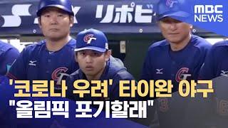"""'코로나 우려' 타이완 야구 """"올림픽 포기할래"""" (2021.06.03/뉴스데스크/MBC)"""