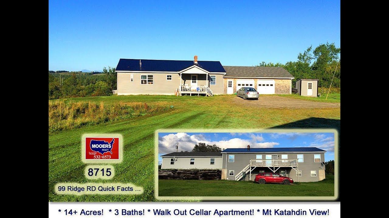 Oakfield Maine Homes For Sale