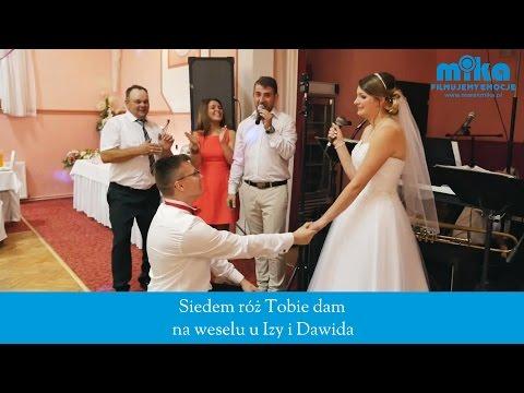'Siedem róż Tobie dam' na weselu Izy i Dawida w restauracji U Ruthy