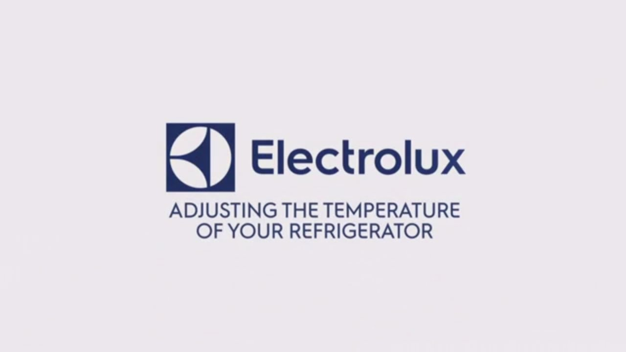 electrolux adjusting the temperature of your at