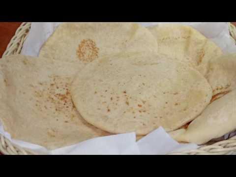 Soft home made shawarma bread/pita bread