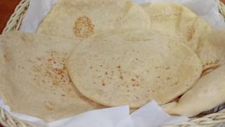 Soft home made shawarma bread/pita bread