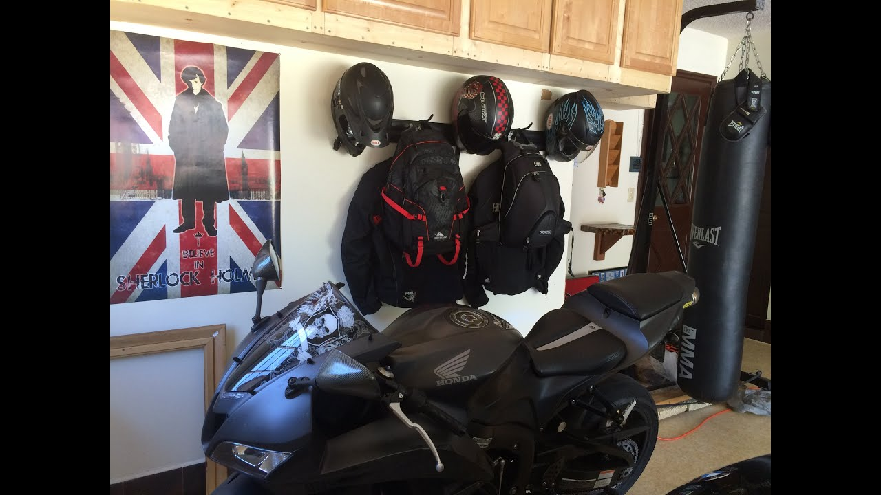 Perfect Motorcycle Helmet Rack Easy Make It Yourself