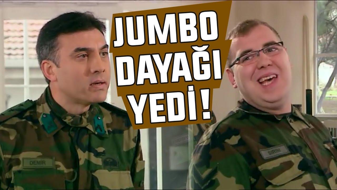 Jumbo Gökhan Komutandan Dayağı Yedi!