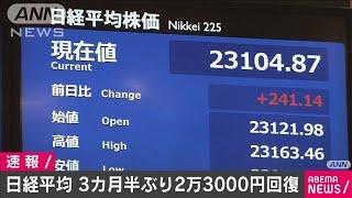 日経平均株価 2万3000円台を回復 約3カ月半ぶり(20/06/08)