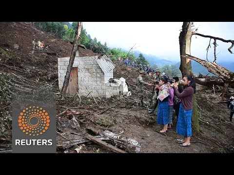 Guatemala mudslide kills 11, search for...