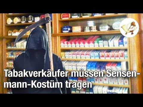 EU: Tabakwarenverkäufer müssen künftig Sensenmann-Kostüm tragen [Postillon24]