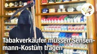EU: Tabakwarenverkäufer müssen künftig Sensenmann-Kostüm tragen
