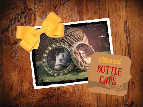 DIY tutorial: Abbellimenti con Tappi Alterati - Altered Bottle Caps Embellishments