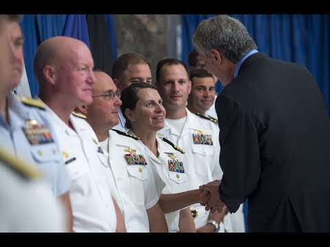 Mayor de Blasio Participates in a Fleet Week Roundtable Discussion