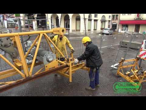 Montaggio Gru Potain MC85B Centro Asolo Treviso