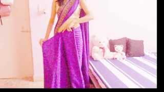 Nivi Style Saree Horizontal Pallu Tutorial/How To Drape Simple Saree/Tie/Wrap