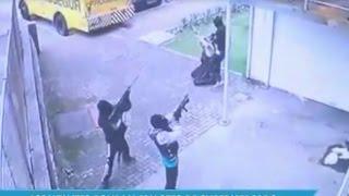 Assaltantes roubam malotes de carro-forte em supermercado de Florianópolis