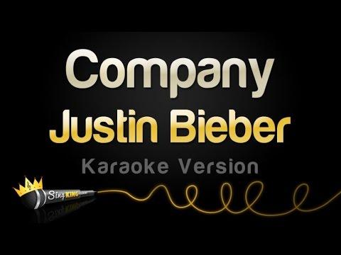 Justin Bieber - Company (Karaoke Version)