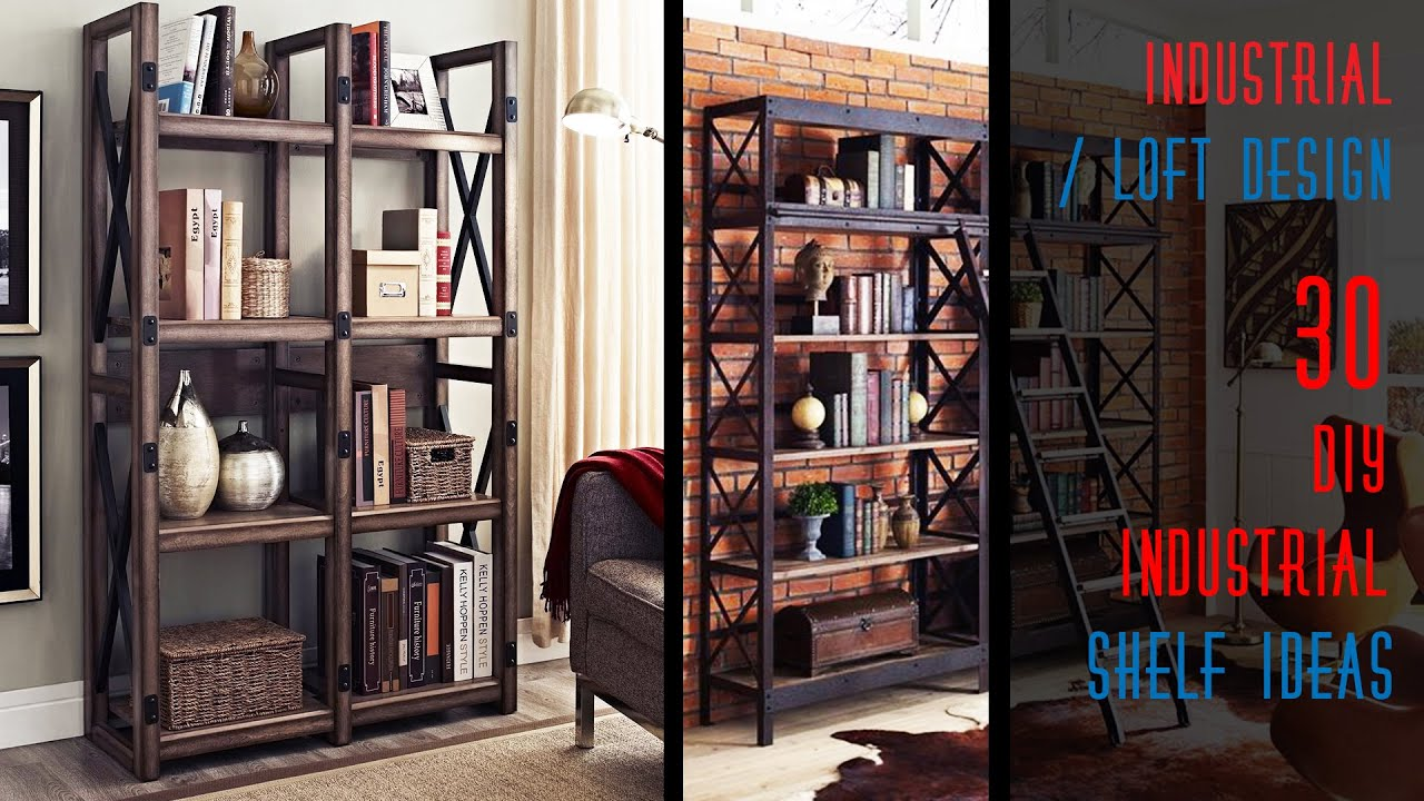 Industrial Bookcase Diy 30 Diy Industrial Wood And Metal Shelves Youtube