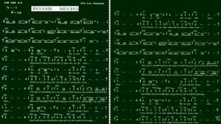 Besame Mucho(Eb)薩克斯風教學(簡譜)