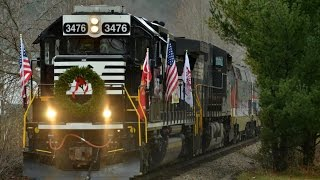 HD: Chasing the 2016 Norfolk Southern Toys For Tots Special