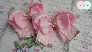 Laço De Fita 🎀 Ribbon Bow Tutorial #40 🎀 DIY by Elysia Handmade