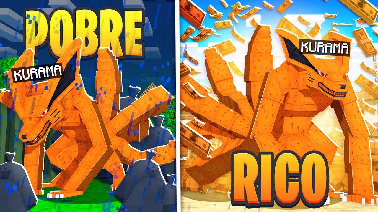 RICO VS POBRE DA KURAMA no Minecraft