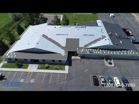 Snake River Montessori School Roof Time Lapse- Rainforest Green