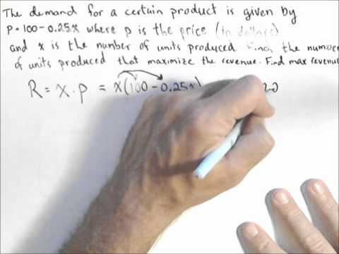Finding a Revenue Function from a Linear Demand Function