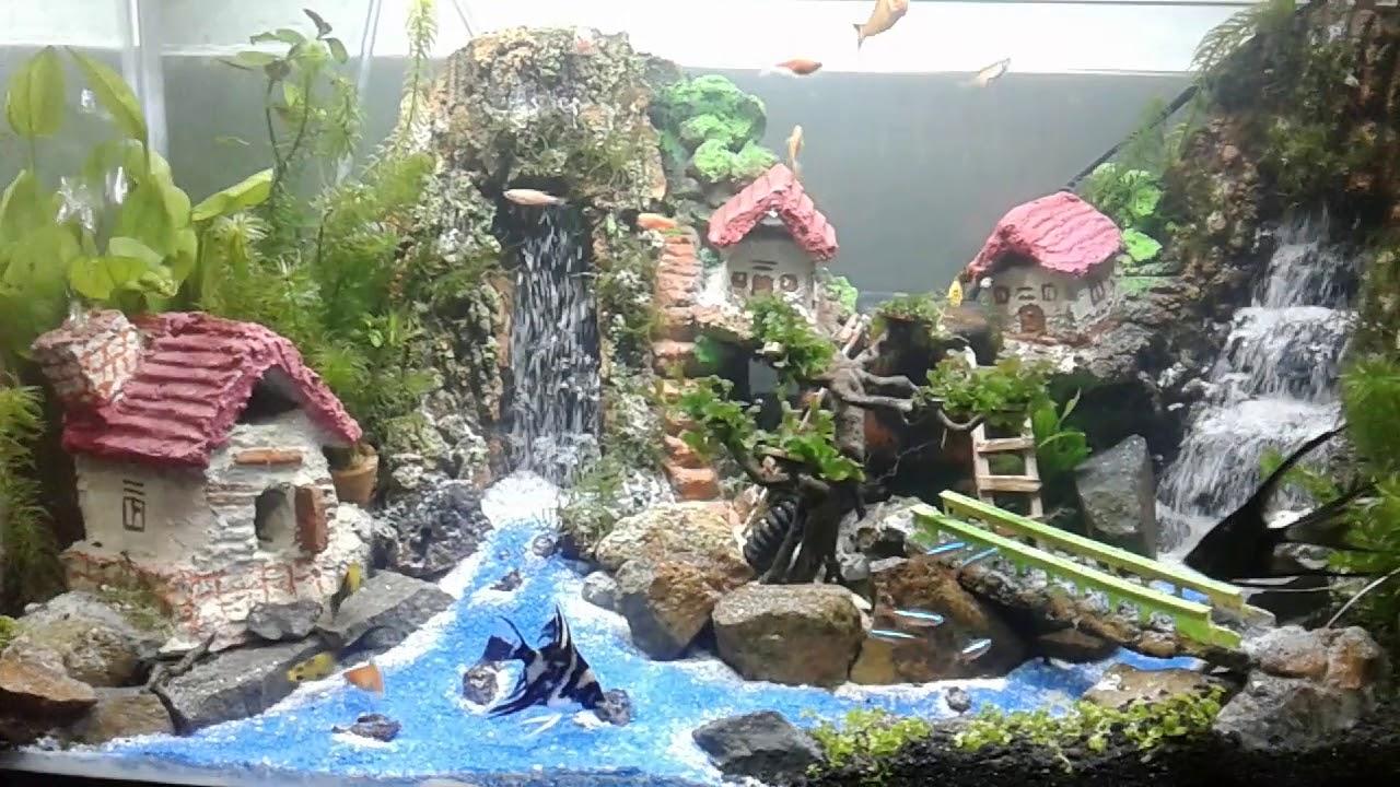 Aquascape Air Terjun Pasir Youtube