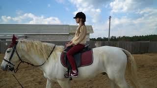 Сериал. Даша снова в конном клубе . Первый сезон. Второй урок.
