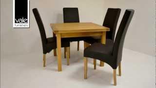 Contemporary Oak Flip-top Extending Table