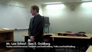 Mr. Law School (Sam E. Goldberg) - Summary Judgment oral argument part 1
