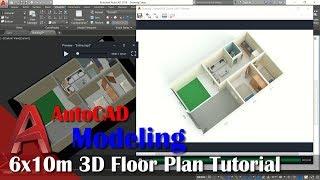 6X10m 3D Floor Plan Tutorial With AutoCAD