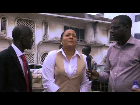 AFTV5 Reporting In The Street Of Monrovia