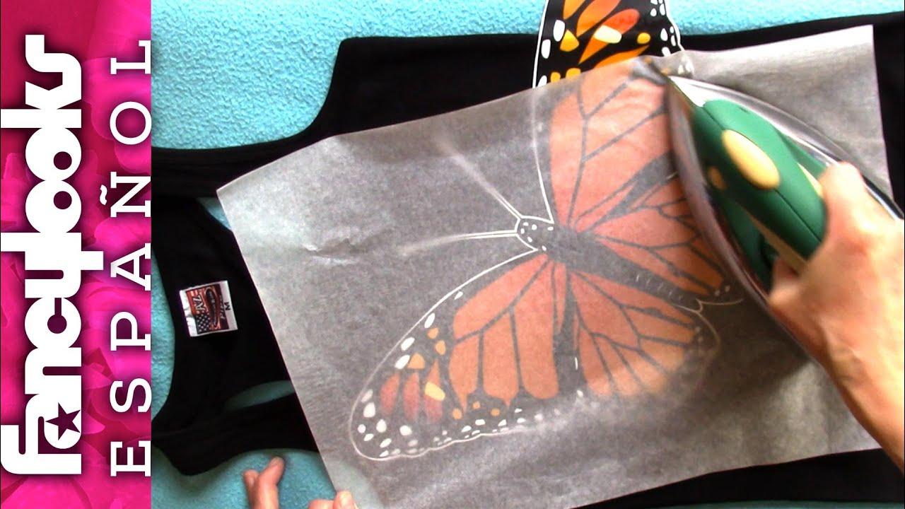 f810a078bea Estámpate una camiseta con mariposa - Dibujo gratis! - YouTube