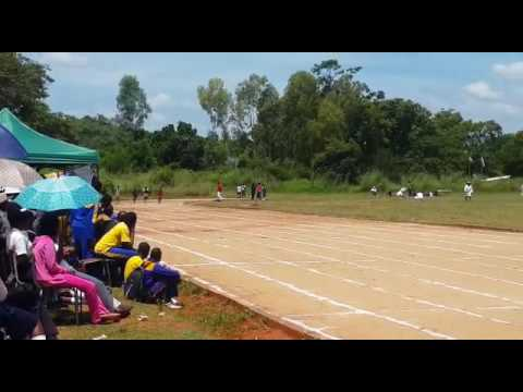 Under 20 boys 100m record breaker #Drayton Chapitura -Zimbabwe Provincial Athletics Competitions