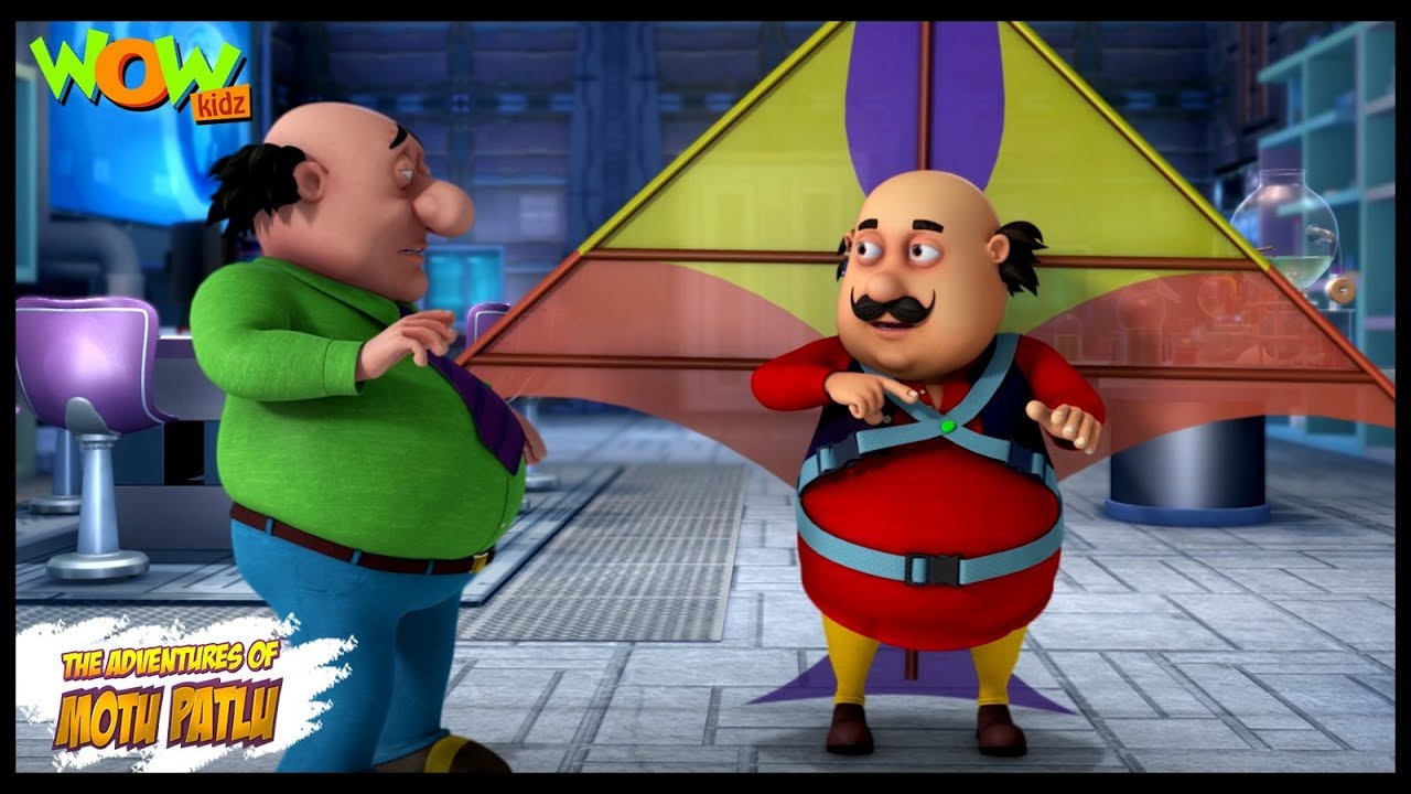 Motu Patlu New Episode | Cartoons | Kids TV Shows | John The Kite Man | Wow  Kidz