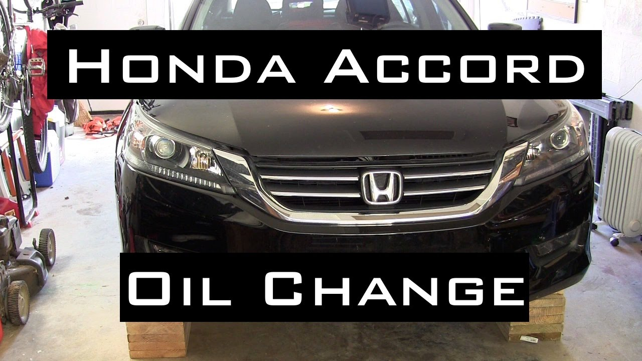 honda accord oil change diy 2013 2016 youtube. Black Bedroom Furniture Sets. Home Design Ideas