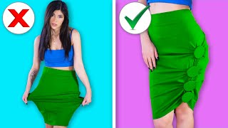 Recreating 8 BRILLIANT Clothes Hacks (DIY Ideas)