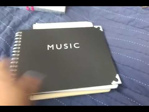 My music notebooks upcycle series/princess pretty much