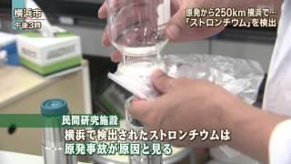 横浜で放射性ストロンチウム検出