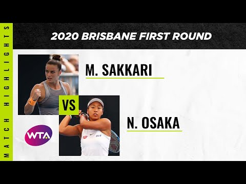 Maria Sakkari vs. Naomi Osaka | 2020 Brisbane International First Round | WTA Highlights