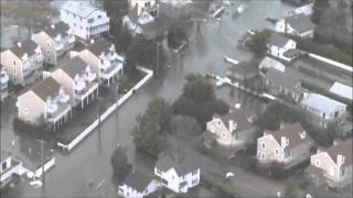 CT National Guard Aerial View of Hurricane Sandy Damage in Connecticut