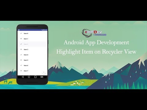 Android Studio Tutorial -  How to properly highlight selected item on RecyclerView