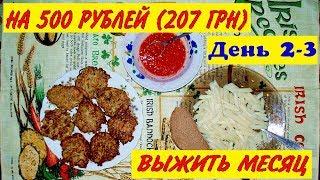 МОЖНО ЛИ ВЫЖИТЬ МЕСЯЦ НА 500 РУБЛЕЙ В РОССИИ ИЛИ В УКРАИНЕ ЗА 200 ГРН  ВЫЖИВАНИЕ ДЕНЬ#2 3