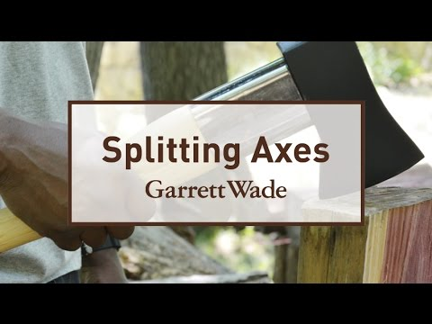 Chopping Wood with the Garrett Wade Splitting Maul and Pickaroon