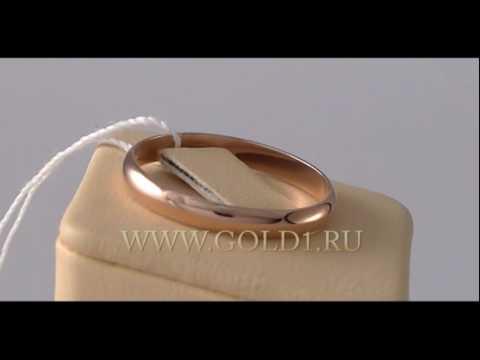 Обручальное кольцо классическое красное золото 3 мм