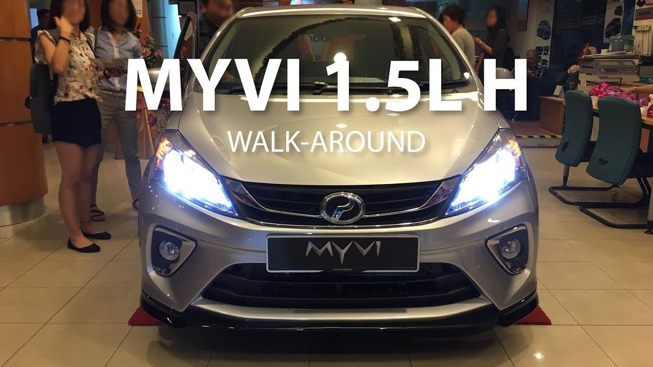 Perodua Myvi 1 5l H Interior Exterior Walk Around Youtube