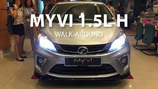 Perodua Myvi 1.5L H Interior & Exterior Walk-around