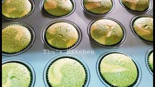 Matcha Green Tea Japanese Cheesecake  - Banh Bông Lan Phô Mai Tra Xanh