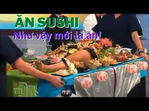 Ăn Sushi trên cơ thể người mẫu.mp4