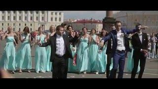 Лучший Танец сюрприз невесте! Парни зажигают на свадьбе!  Флешмоб на дворцовой!